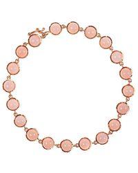 Irene Neuwirth オパール 18kローズゴールドブレスレット - ピンク