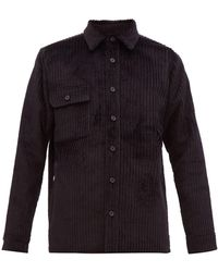 Bless Woodhacker Corduroy Overshirt - Black