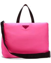 Prada - Logo-embellished Padded-nylon Tote Bag - Lyst