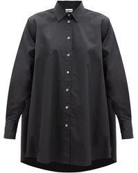 Co. Aライン コットンサテンシャツ - ブラック