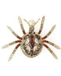 Erdem Spider Crystal-embellished Brooch - Multicolor