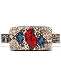 Lutz Morris - Evan Snake Effect Leather Belt Bag - Lyst