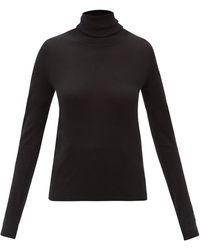 Totême Totême タートルネック ウールセーター - ブラック