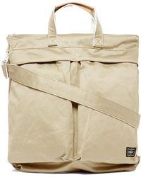 Porter ウェポン 2way キャンバストートバッグ - ナチュラル