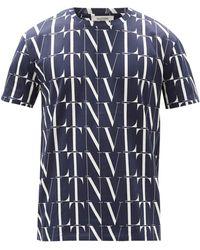Valentino - Vltn コットンtシャツ - Lyst