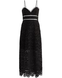 Zimmermann - Jaya Wave Cotton Midi Dress - Lyst