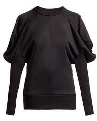 Marques'Almeida - Puff Shoulder Cotton Blend Jersey Top - Lyst