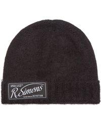 Raf Simons Logo-patch Beanie Hat - Black