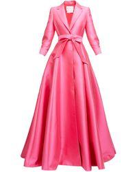 Carolina Herrera - ノッチドラペル ドレス - Lyst
