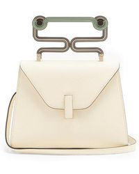 Valextra - Iside Mini Grained-leather Bag - Lyst