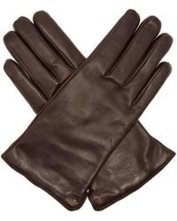 Gucci - Bee Embellished Leather Gloves - Lyst