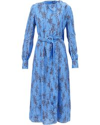 Erdem ルーヴェニア オットリン クレープドレス - ブルー