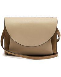 Marni - Law Panelled Leather Belt Bag - Lyst