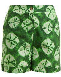 Stella Jean - Tie-dye Print Cotton Shorts - Lyst