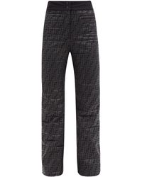 Fendi Ff-logo Padded Technical Ski Pants - Black
