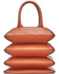 STAUD Hutton Accordion Leather Bag - Brown