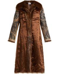 Vetements - Inside Out Belted Fur Coat - Lyst