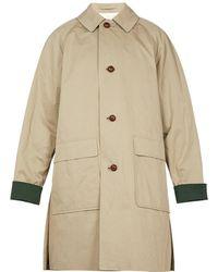 Burberry - Manteau en coton à manches raglan unisexe - Lyst