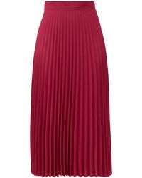 Thebe Magugu Jupe midi plissée taille haute en crêpe - Rose