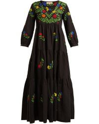 Muzungu Sisters - Frangipani Embroidered Cotton Dress - Lyst