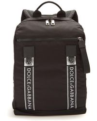 Dolce & Gabbana | Logo Leather-trimmed Backpack | Lyst