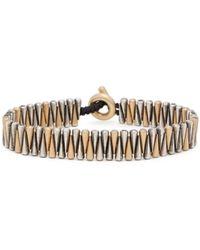 M. Cohen Shimu Diamond, Gold, & Sterling Silver Bracelet - Metallic