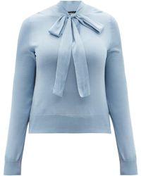 Dolce & Gabbana - タイネック シルクブラウス - Lyst