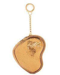 Saint Laurent - Love Heart-shaped Leather Coin Purse - Lyst