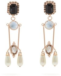 Erdem - Crystal And Faux Pearl-embellished Drop Earrings - Lyst
