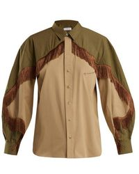 Toga - Fringed Cotton-blend Western Shirt - Lyst