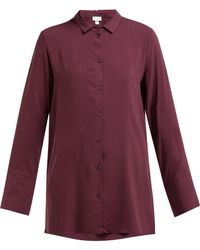 Hanro Longline Buttoned Jersey Shirt - Purple