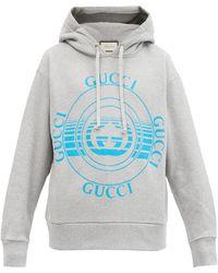 Gucci - コットンスウェットパーカー - Lyst