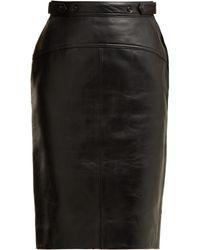 Acne Studios - Leather Pencil Skirt - Lyst