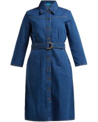 M.i.h Jeans Robe-chemise en denim Aria - Bleu
