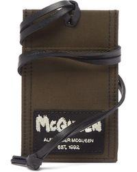 Alexander McQueen ロゴパッチ キャンバス カードケースネックレス - マルチカラー
