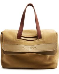 J.W.Anderson - Tool Leather-trimmed Suede Tote - Lyst