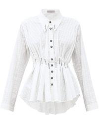Palmer//Harding Escen Pintucked Cotton-blend Shirt - White
