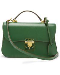 Mark Cross Dorothy Grained Leather Shoulder Bag - Green