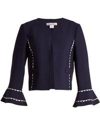 Oscar de la Renta - Ric-rac Trimmed Wool-blend Crepe Jacket - Lyst