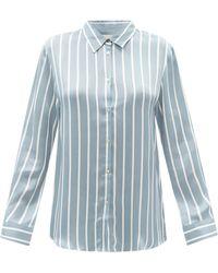 Asceno - ロンドン ストライプ シルクパジャマシャツ - Lyst