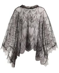 Maria Lucia Hohan - Delphine Chantilly-lace Cape - Lyst