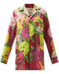 Gucci X Ken Scott Floral-print Silk-twill Pajamas - Multicolor