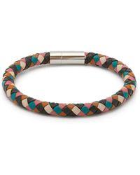 Paul Smith Woven Leather Bracelet - Multicolor