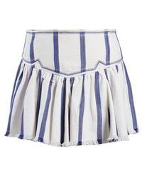 Étoile Isabel Marant - Delia Gathered Striped Skirt - Lyst