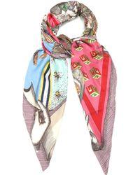 Gucci   Foulard Love Pyramid-print Silk-twill Scarf   Lyst