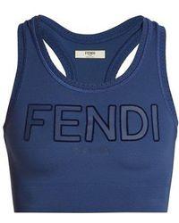 Fendi - Roma-logo Sports Bra - Lyst