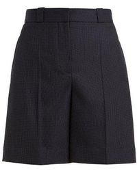 Burberry - Pin-dot Tailored Wool Shorts - Lyst