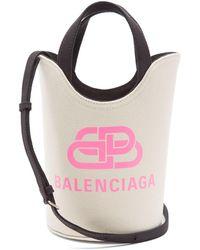 Balenciaga ウェーブ Xs オーガニックコットンキャンバスバッグ - ピンク