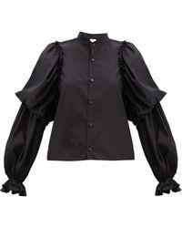 Noir Kei Ninomiya コットンポプリンシャツ - ブラック