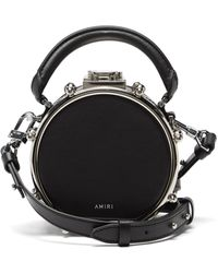 Amiri ドラム ミニ レザークロスボディバッグ - ブラック